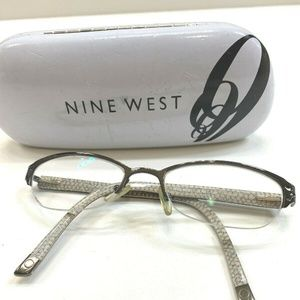 🌷Nine West  Pewter Half Rimless Eyeglass Frames🌷